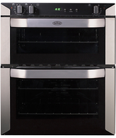 Belling BI70FP Double Built-Under Electric Oven, Stainless Steel
