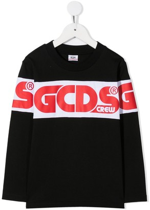 Gcds Kids Logo Long-Sleeve Top