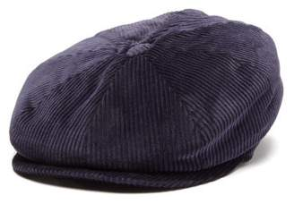 Brunello Cucinelli Cotton-corduroy Flat Cap - Mens - Navy