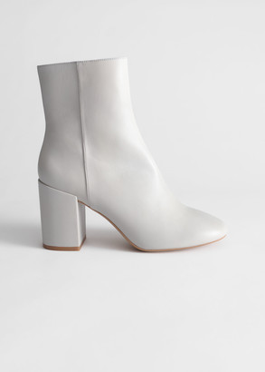 And other stories Block Heel Leather Boots