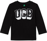 Benetton Black Long Sleeve Logo T-Shirt