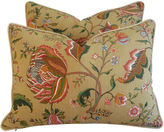One Kings Lane Vintage Brunschwig & Fils Floral Pillows, Pair