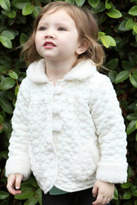 Isobella & Chloe Girls Ivory-Sprinkle Jacket