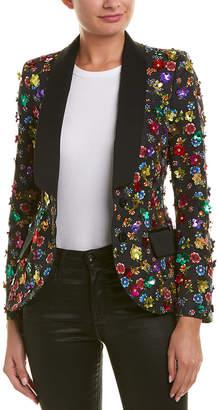 Moschino Embellished Floral Blazer