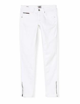 Tommy Jeans Women's Scarlett Lr Skinny Ankle Zip Cnw Straight Jeans