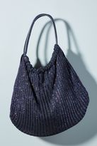 Anthropologie Shimmer Knit Shoulder Bag
