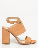 Le Château Italian-Made Leather Block Heel Sandal