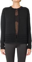 Max Studio Textural High Twist Sweater Jacket
