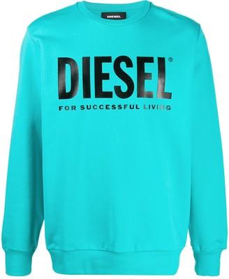 Diesel logo print crew neck sweatshirt