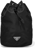 Prada Shell Drawstring Cosmetics Case - Black