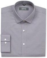Kenneth Cole Reaction Dress Shirt, Orange and Grey Mini Box Check Long Sleeve Shirt