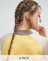 Asos Pack of 6 Love Charm Hair Rings