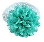 KESEE Baby Kids Girls Lace Flower Hairband (Sky blue)