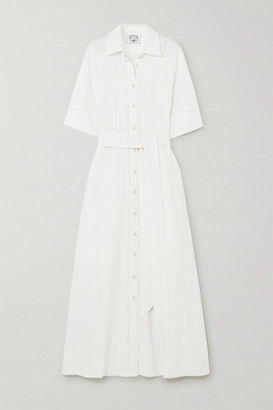 Evi Grintela Valerie Cotton-crepe Maxi Shirt Dress - White