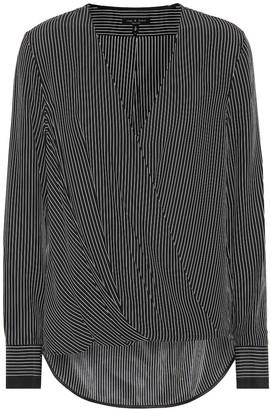Rag & Bone Victor striped silk blouse