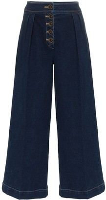 REJINA PYO High-Waisted Wide Leg Jeans