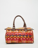 Raga Embroidered Barrel Bag