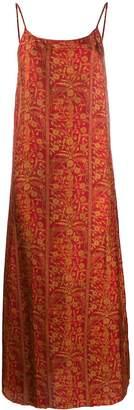 UMA WANG sleeveless floral midi dress