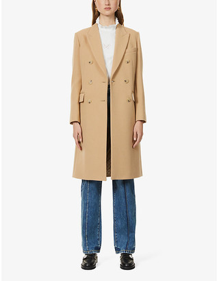 Sandro Bayane double-breasted wool-blend coat