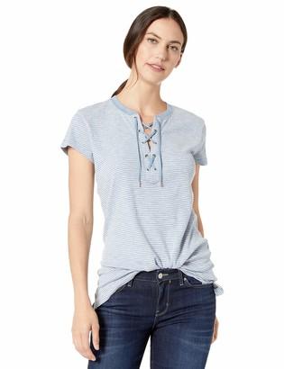 Chaps Women's Lace Up Cotton Top