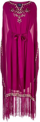 Marchesa Embellished Kaftan Dress