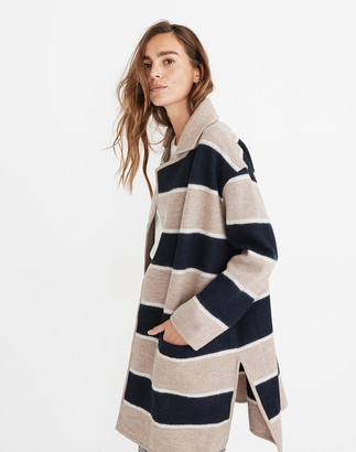 Madewell Striped Ballard Sweater Coat