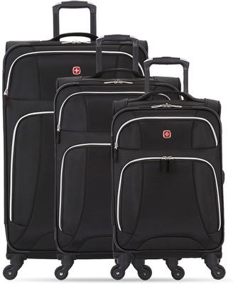 Swiss Gear Expandable Lightweight Spinner Luggage 3-Piece Set