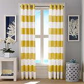 Nautica Cabana Stripe Yellow Curtain Panel Set