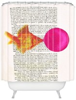 DENY Designs Goldfish With Bubblegum Shower Curtain