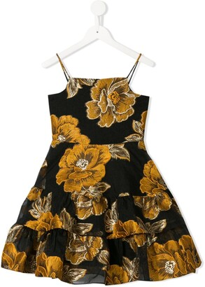 Little Bambah Rose Embroidered Ruffle Dress