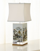 John-Richard Collection John Richard Collection White & Green Forest Table Lamp