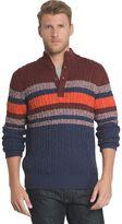 Izod Men's Classic-Fit Striped Fine-Gauge Mockneck Sweater
