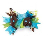 Mud Pie Baby ZEBRA HAIR BOW 190075 from the Wild Child Collection
