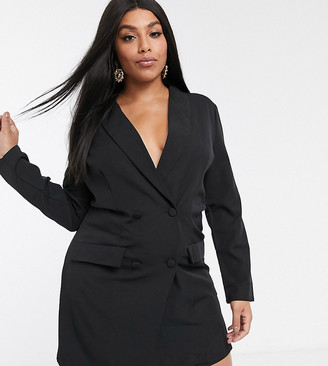Unique21 Hero Unqiue21 back lace detail tailored blazer playsuit