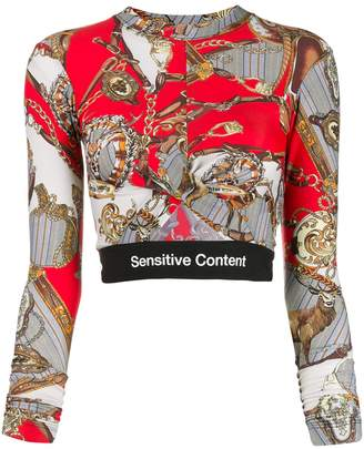 Palm Angels Sensitive Content crop top