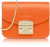 Furla Mango Leather Metropolis Mini Crossbody Bag