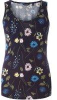 Dorothy Perkins Womens Navy Floral Vest- Blue