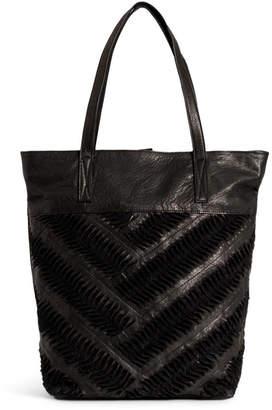 Day & Mood Ebony Leather Tote