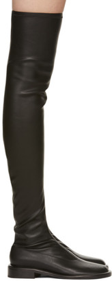 Proenza Schouler Black Pipe Ruched Tall Boots