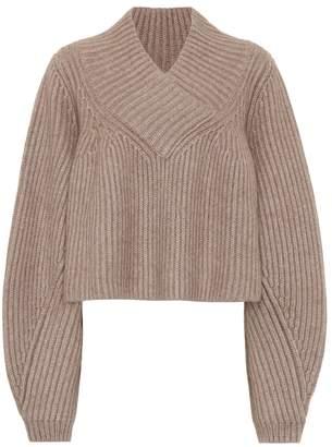 KHAITE Ivy cropped cashmere sweater