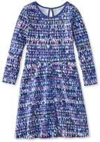 L.L. Bean L.L.Bean Girls' Unshrinkable Dress, Long-Sleeve Print