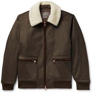 Private White V.C. Shearling And Suede-Trimmed Wool-Felt Jacket