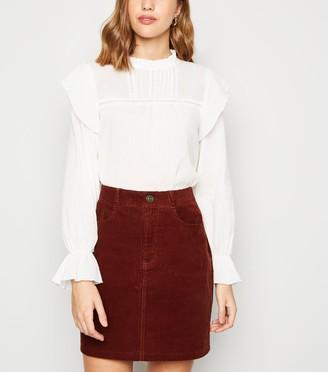 New Look Cord High Waist Mini Skirt