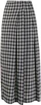McQ contrast print midi-skirt