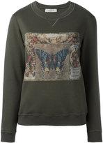 Valentino butterfly print sweatshirt - women - Cotton/Polyamide - XS