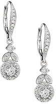 Nadri Crystal Vine Drop Earrings