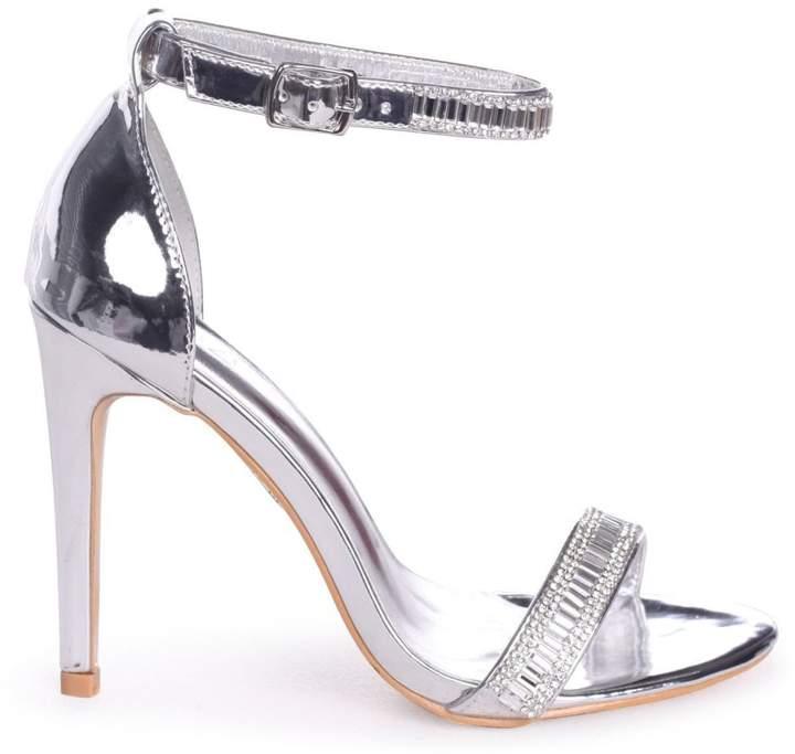 0048b8b3a70 Linzi ANITA - Silver Stiletto Heel With Diamante Front Ankle Strap