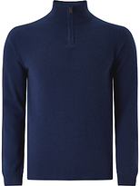 John Lewis Made In Italy Cashmere Zip Jumper