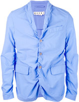 Marni ruched blazer - men - Cotton - 48