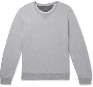 Brunello Cucinelli Melange Loopback Cotton-Jersey Sweatshirt